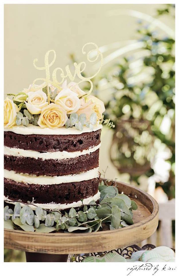 Cake from a Rustic Outdoor Bridal Shower via Kara's Party Ideas | KarasPartyIdeas.com | The Place for All Things Party! (22)