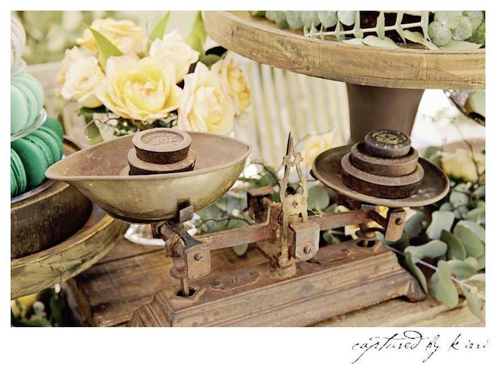 vintage decor piece from a rustic outdoor bridal shower via karas party ideas karaspartyideas