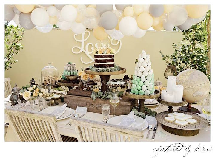 Guest Table from a Rustic Outdoor Bridal Shower via Kara's Party Ideas | KarasPartyIdeas.com | The Place for All Things Party! (10)