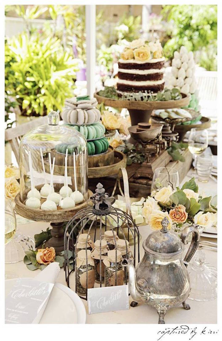 Kara 39 s party ideas rustic outdoor bridal shower kara 39 s for Wedding party decorations