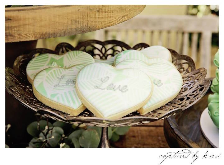Cookies from a Rustic Outdoor Bridal Shower via Kara's Party Ideas | KarasPartyIdeas.com | The Place for All Things Party! (8)