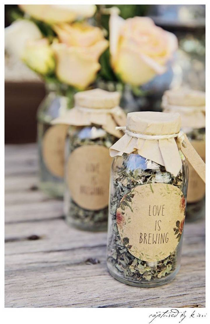 Tea Bottle Favors from a Rustic Outdoor Bridal Shower via Kara's Party Ideas | KarasPartyIdeas.com | The Place for All Things Party! (53)