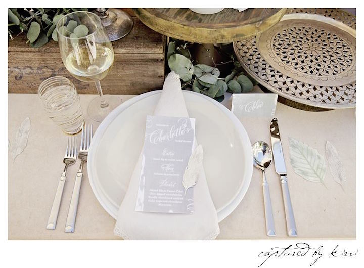 Place Setting from a Rustic Outdoor Bridal Shower via Kara's Party Ideas | KarasPartyIdeas.com | The Place for All Things Party! (6)