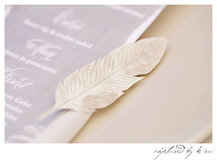 Leaf Detail from a Rustic Outdoor Bridal Shower via Kara's Party Ideas | KarasPartyIdeas.com | The Place for All Things Party! (48)
