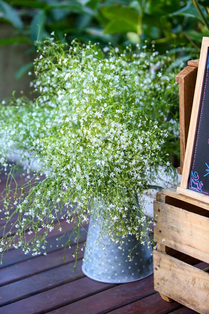 Floral Arrangement from a Rustic Shabby Chic Wedding via Kara's Party Ideas - KarasPartyIdeas.com (18)