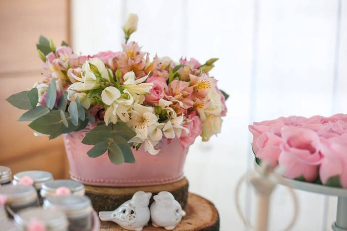 Floral Details from a Rustic Shabby Chic Wedding via Kara's Party Ideas - KarasPartyIdeas.com (15)