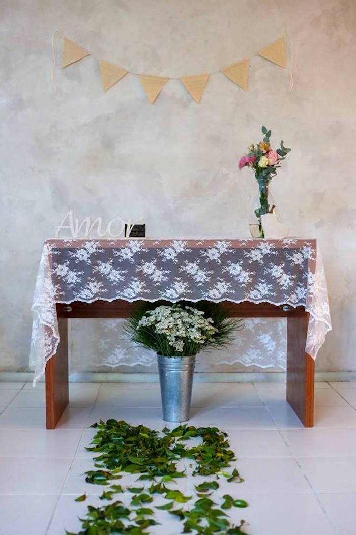 Table from a Rustic Shabby Chic Wedding via Kara's Party Ideas - KarasPartyIdeas.com (36)