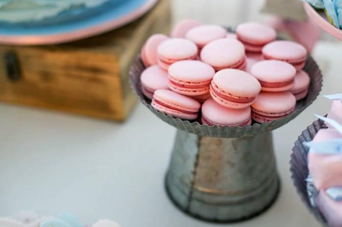 Macarons from a Rustic Shabby Chic Wedding via Kara's Party Ideas - KarasPartyIdeas.com (8)