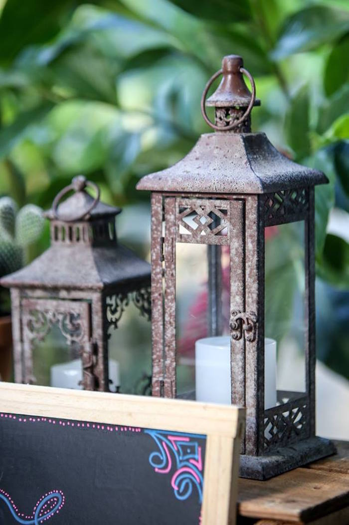 Lanterns from a Rustic Shabby Chic Wedding via Kara's Party Ideas - KarasPartyIdeas.com (7)