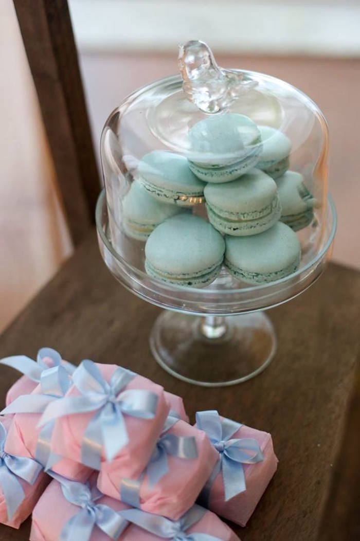 Macarons from a Rustic Shabby Chic Wedding via Kara's Party Ideas - KarasPartyIdeas.com (6)