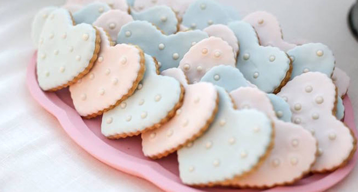 Cookies from a Rustic Shabby Chic Wedding via Kara's Party Ideas - KarasPartyIdeas.com (2)