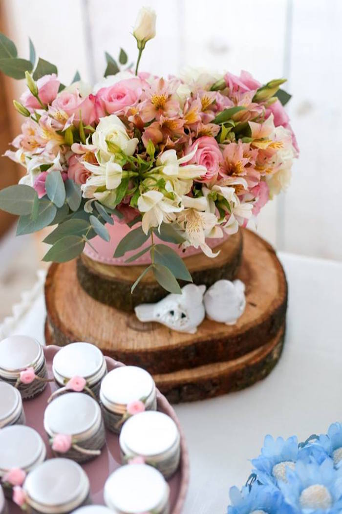Floral Arrangement from a Rustic Shabby Chic Wedding via Kara's Party Ideas - KarasPartyIdeas.com (33)