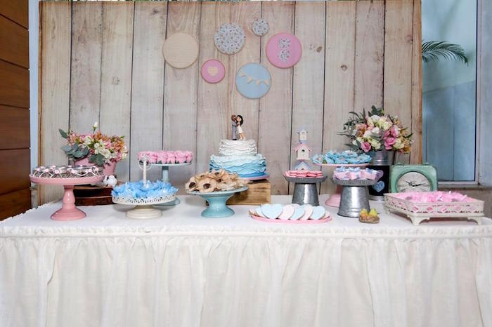 Head Table from a Rustic Shabby Chic Wedding via Kara's Party Ideas - KarasPartyIdeas.com (32)