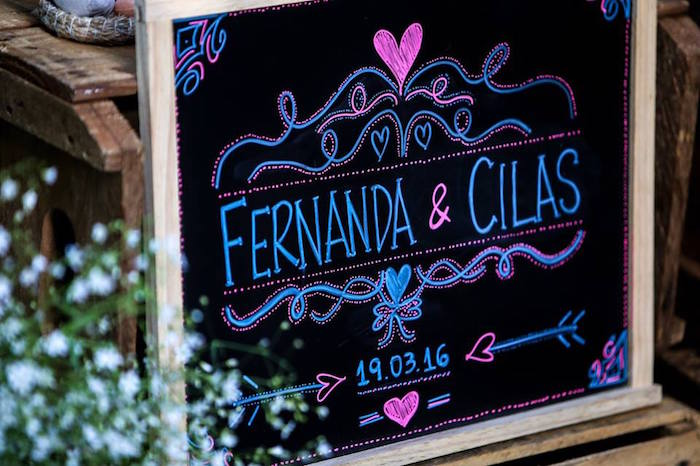Chalkboard Sign from a Rustic Shabby Chic Wedding via Kara's Party Ideas - KarasPartyIdeas.com (29)