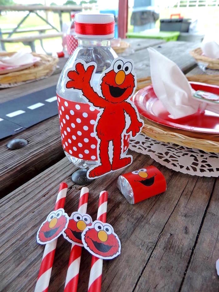 Place Setting from a Rustic Whimsical Sesame Street Birthday Party via Kara's Party Ideas | KarasPartyIdeas.com (33)