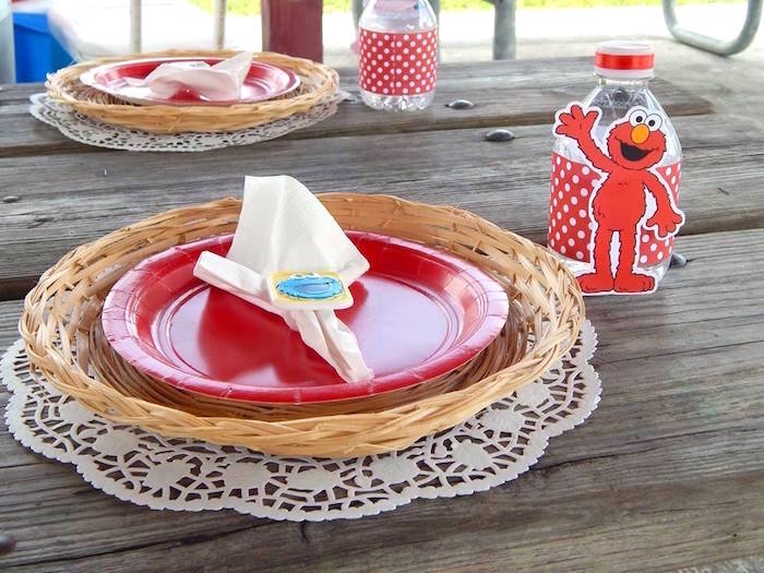 Place Setting from a Rustic Whimsical Sesame Street Birthday Party via Kara's Party Ideas | KarasPartyIdeas.com (31)