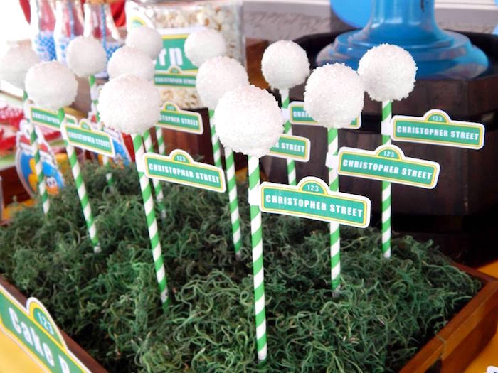 Light Post Cake Pops from a Rustic Whimsical Sesame Street Birthday Party via Kara's Party Ideas | KarasPartyIdeas.com (10)