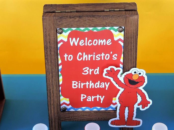 Sign + Stationery from a Rustic Whimsical Sesame Street Birthday Party via Kara's Party Ideas | KarasPartyIdeas.com (6)