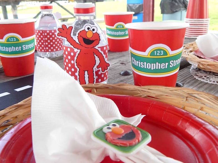 Place Setting + Partyware from a Rustic Whimsical Sesame Street Birthday Party via Kara's Party Ideas | KarasPartyIdeas.com (38)