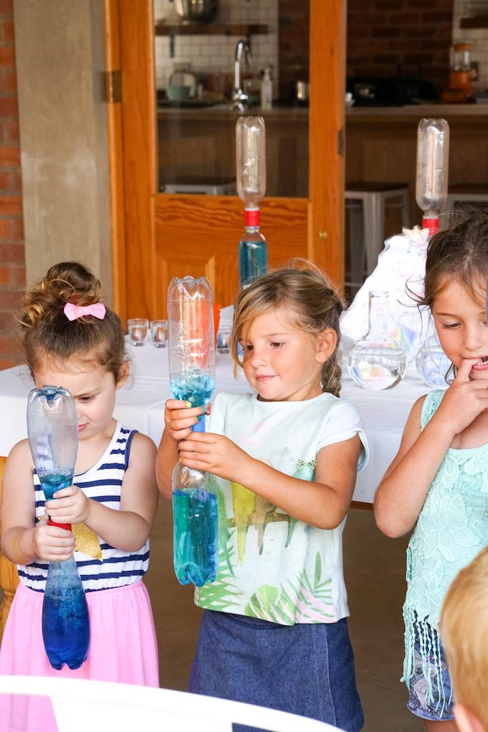 Little Scientists Experimenting from a Scientist Themed Birthday Party via Kara's Party Ideas | KarasPartyIdeas.com (24)