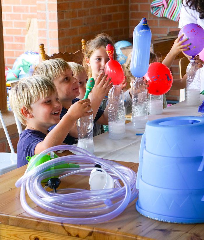 Balloon Experiment from a Scientist Themed Birthday Party via Kara's Party Ideas | KarasPartyIdeas.com (3)