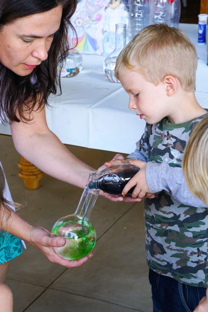 Experiment from a Scientist Themed Birthday Party via Kara's Party Ideas | KarasPartyIdeas.com (2)