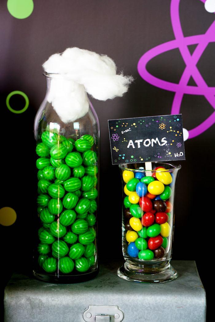 Candy Display from a Scientist Themed Birthday Party via Kara's Party Ideas | KarasPartyIdeas.com (23)