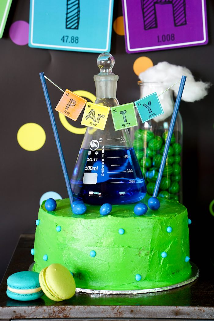 Science Experiments Birthday Cake