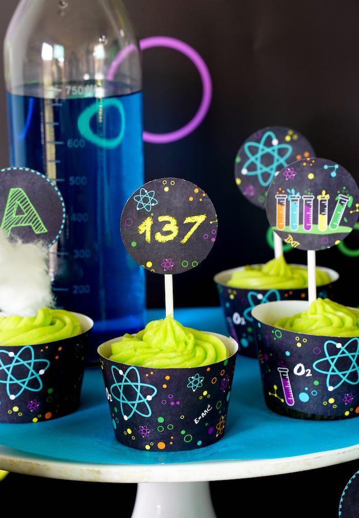Cupcakes from a Scientist Themed Birthday Party via Kara's Party Ideas | KarasPartyIdeas.com (20)