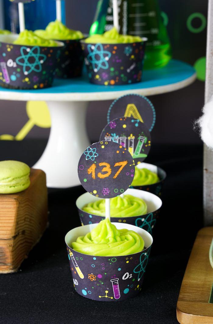 Cupcakes from a Scientist Themed Birthday Party via Kara's Party Ideas | KarasPartyIdeas.com (19)
