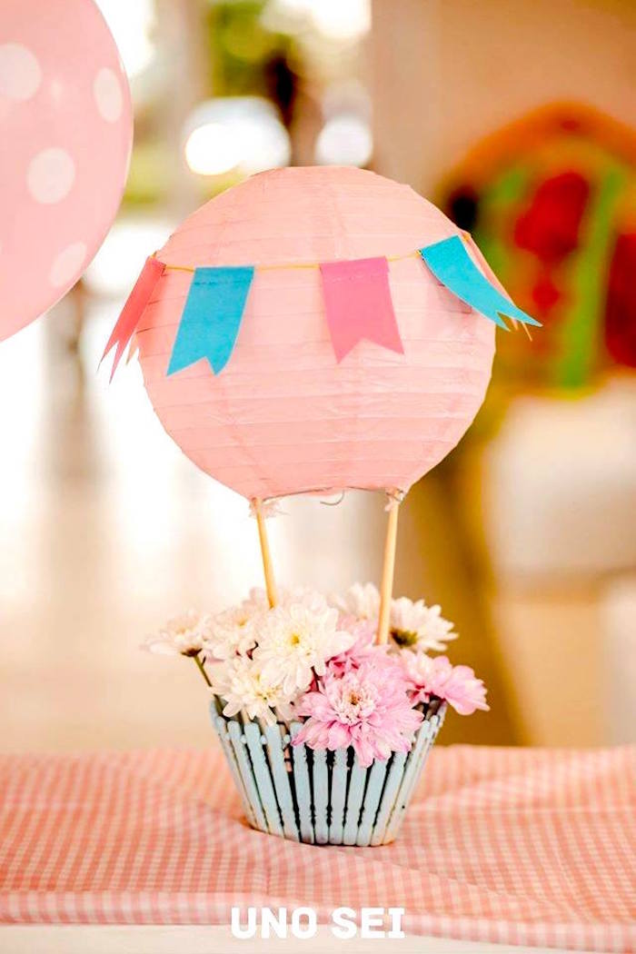 Kara S Party Ideas Shabby Chic Hot Air Balloon Party