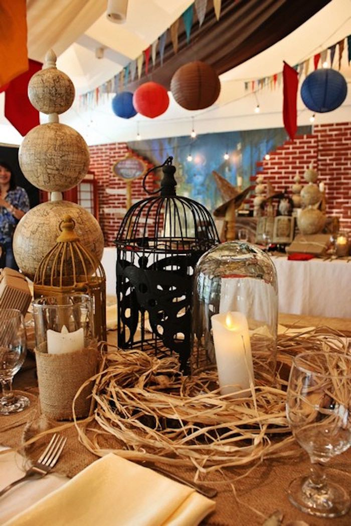 Guest Table Centerpieces from a Boy Who Lived - Harry Potter Birthday Party via Kara's Party Ideas | KarasPartyIdeas.com (39)
