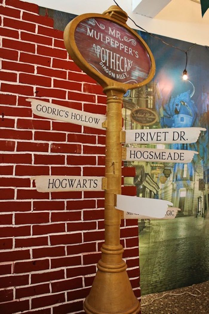Directional Sign from a Boy Who Lived - Harry Potter Birthday Party via Kara's Party Ideas | KarasPartyIdeas.com (37)