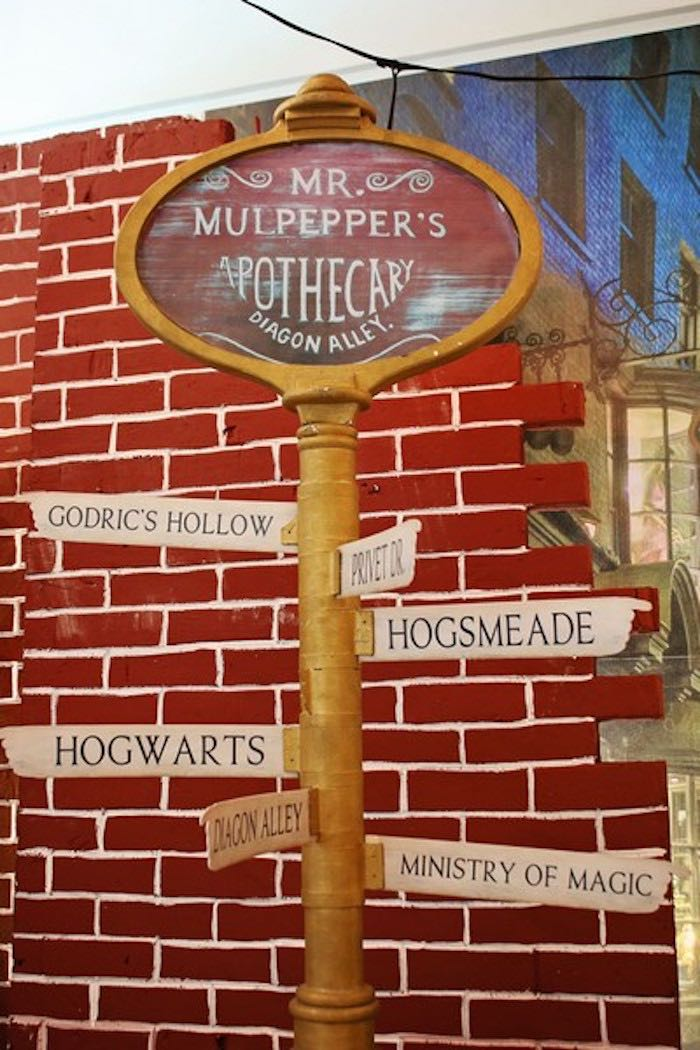 Directional Sign from a Boy Who Lived - Harry Potter Birthday Party via Kara's Party Ideas | KarasPartyIdeas.com (36)