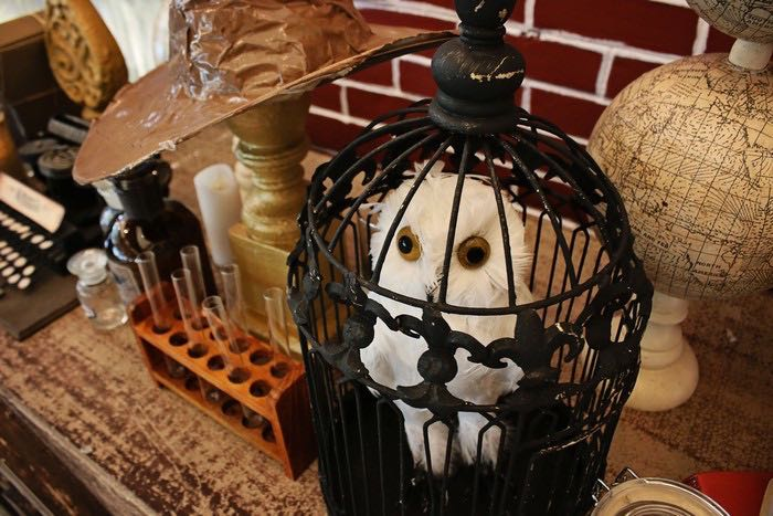 Hedwig the Owl Decor Piece from a Boy Who Lived - Harry Potter Birthday Party via Kara's Party Ideas | KarasPartyIdeas.com (35)