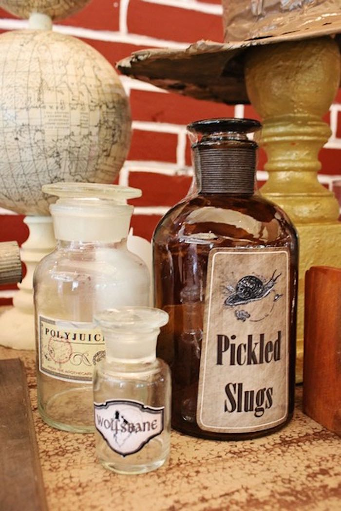 Bottles + Vials from a Boy Who Lived - Harry Potter Birthday Party via Kara's Party Ideas | KarasPartyIdeas.com (33)