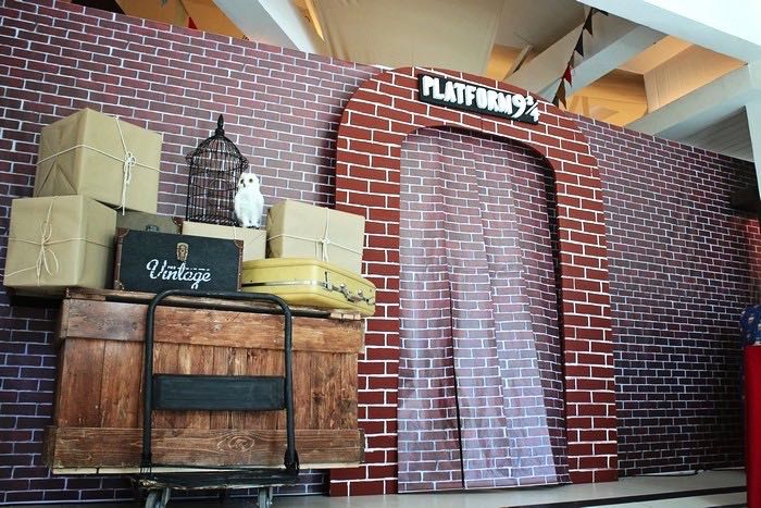 Platform 9 3/4 Backdrop from a Boy Who Lived - Harry Potter Birthday Party via Kara's Party Ideas | KarasPartyIdeas.com (29)