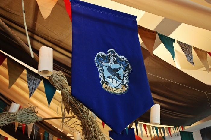 Ravenclaw House Banner from a Boy Who Lived - Harry Potter Birthday Party via Kara's Party Ideas | KarasPartyIdeas.com (28)