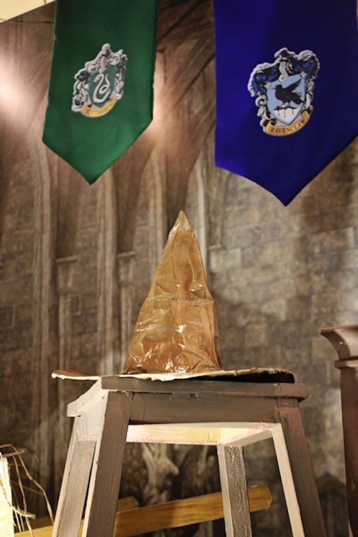 Sorting Hat from a Boy Who Lived - Harry Potter Birthday Party via Kara's Party Ideas | KarasPartyIdeas.com (15)