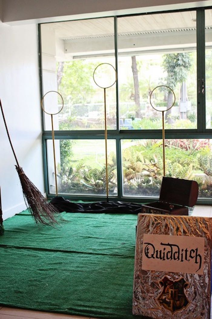 Quidditch Field + Game from a Boy Who Lived - Harry Potter Birthday Party via Kara's Party Ideas | KarasPartyIdeas.com (12)
