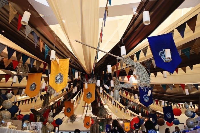 Partyscape Ceiling from a Boy Who Lived - Harry Potter Birthday Party via Kara's Party Ideas | KarasPartyIdeas.com (11)