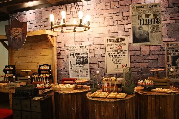 Sweet Display from a Boy Who Lived - Harry Potter Birthday Party via Kara's Party Ideas | KarasPartyIdeas.com (6)