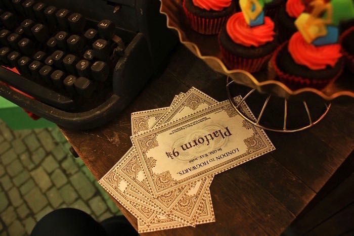 Train Tickets + Stationery from a Boy Who Lived - Harry Potter Birthday Party via Kara's Party Ideas | KarasPartyIdeas.com (5)