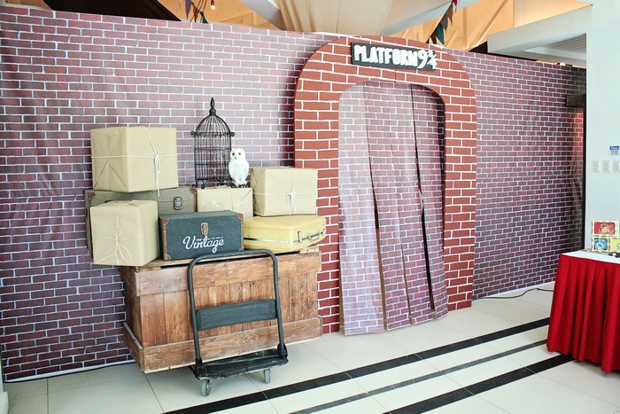 Platform 9 3/4 from a Boy Who Lived - Harry Potter Birthday Party via Kara's Party Ideas | KarasPartyIdeas.com (43)