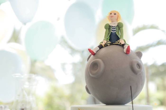 The Little Prince-inspired Cake Topper from a Little Prince Birthday Party via Kara's Party Ideas - KarasPartyIdeas.com (19)
