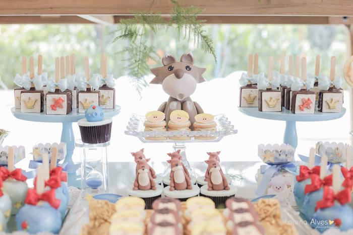 Dessert Table Details from a Little Prince Inspired Birthday Party via Kara's Party Ideas - KarasPartyIdeas.com (4)