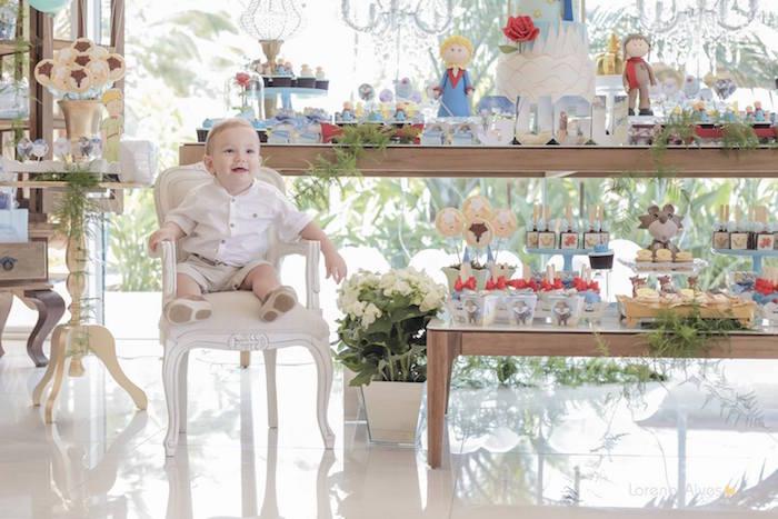 Birthday Boy + Sweet Table from a Little Prince Inspired Birthday Party via Kara's Party Ideas - KarasPartyIdeas.com (31)