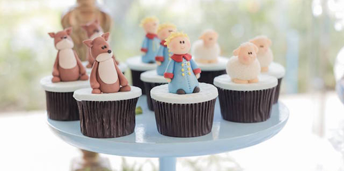Cupcakes from a Little Prince Inspired Birthday Party via Kara's Party Ideas - KarasPartyIdeas.com (1)