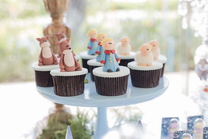 Cupcakes from a Little Prince Inspired Birthday Party via Kara's Party Ideas - KarasPartyIdeas.com (29)