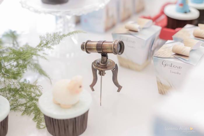Mini Telescope Table Decoration from a Little Prince Inspired Birthday Party via Kara's Party Ideas - KarasPartyIdeas.com (28)